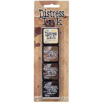 Mini Carimbeira Distress Ink - Kit com 4 - Brown