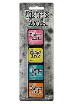 Mini Carimbeira Distress Ink - Kit com 4 - Kit 1