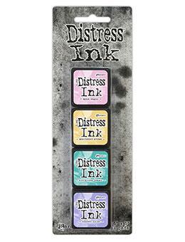 Mini Carimbeira Distress Ink - Kit com 4 - Kit 4