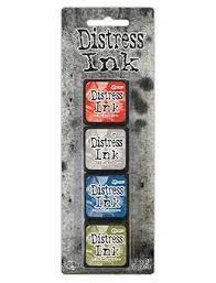 Mini Carimbeira Distress Ink - Kit com 4 - Kit 5