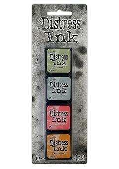 Mini Carimbeira Distress Ink - Kit com 4 - Kit 7