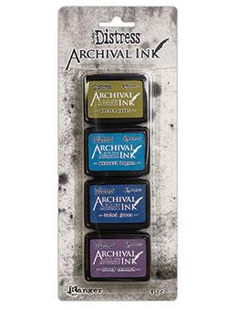 Mini Carimbeira Tim Holtz Archival Ink Distress Kit com 4 - Kit 2