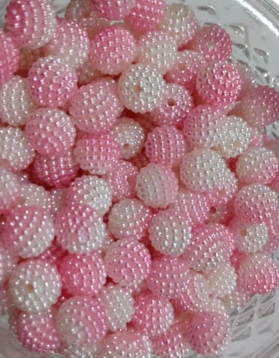 Missanga Perolada Degrade Rosa - 40 gramas
