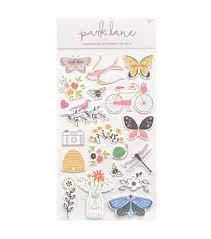 Park Lane- Chipboard Stickers- Borboletas