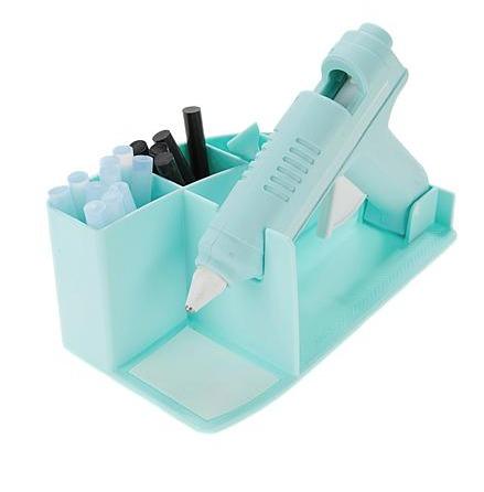 Pistola de Cola Quente com Base e Refil - We R Memory Keepers - Azul Tiffany