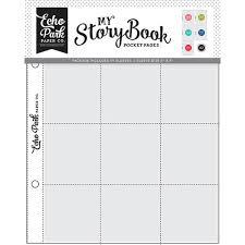 Plástico para Álbum Echo Park- My Story Book- Multi Pack- 10 Unidades