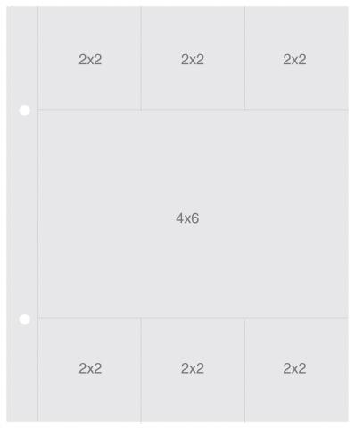 Plástico para Álbum Snap 2X2/3X4 Simple Stories - 10 Unidades