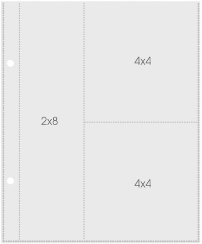 Plástico para Álbum Snap 2X8/4X4 Simple Stories -10 Unidades