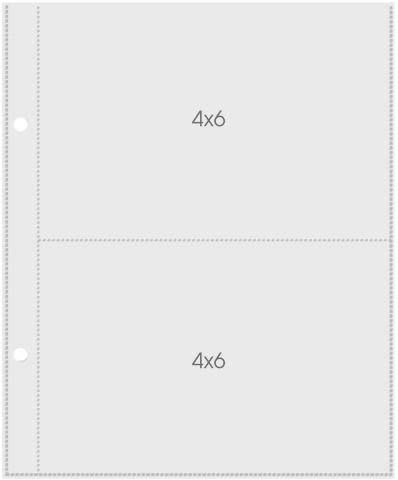 Plástico para Álbum Snap 4x6 Simple Stories -10 Unidades