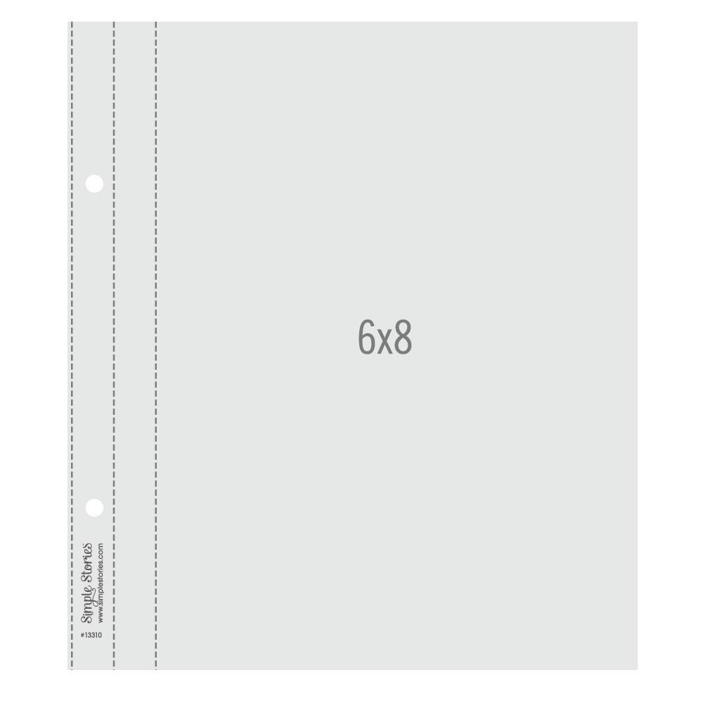 Plástico para Álbum Snap 6x8 Simple Stories - 10 Unidades (cod 2002)