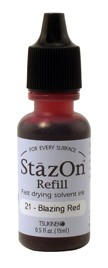 Refil Stazon Blazing Red
