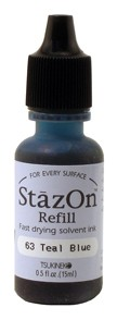 Refil Stazon Teal Blue