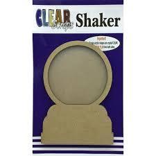 Shaker Madeira- Clear Scraps- Globo