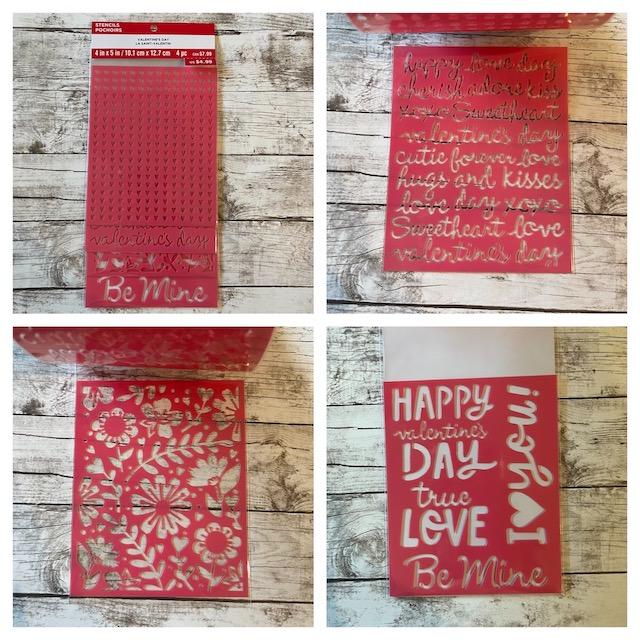Stencils Pochoirs - Valentine's Day