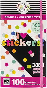Stickers-Autocolantes - The Happy Planner  3888 unidades- I Love Stickers