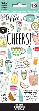 Adesivos - Stickers - Big Ideas - Drinks