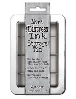 Caixa Tim Holtz Distress Mini Storage - Caixinha Capacidade para 12 Carimbeiras Mini