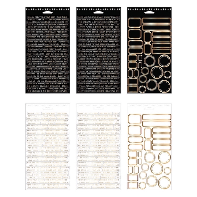 Tim Holtz Idea-ology METALLIC Sticker Book