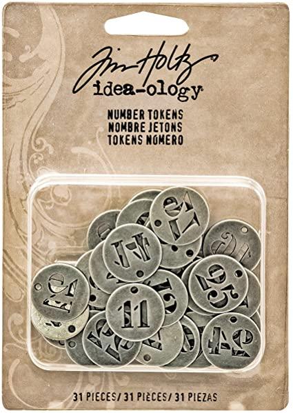 Adorno de numeros com 31 dias - Tim Holtz Idea-ology - TH93244