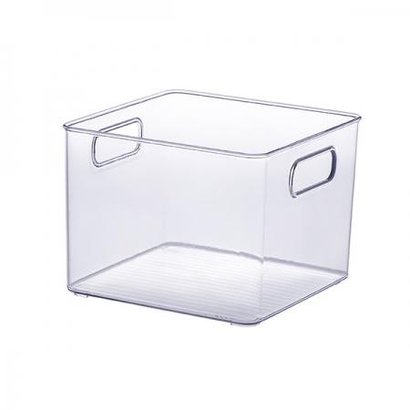 Cesto organizador transparente quadrado 20x20