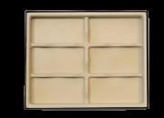 Organizador para óculos e relógios c/ 6 nichos