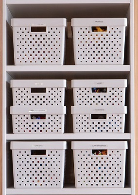 Caixa organizadora branca quadratta G