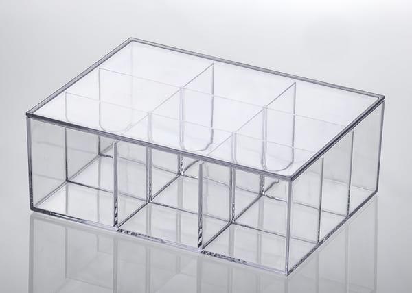 Caixa transparente com divisória