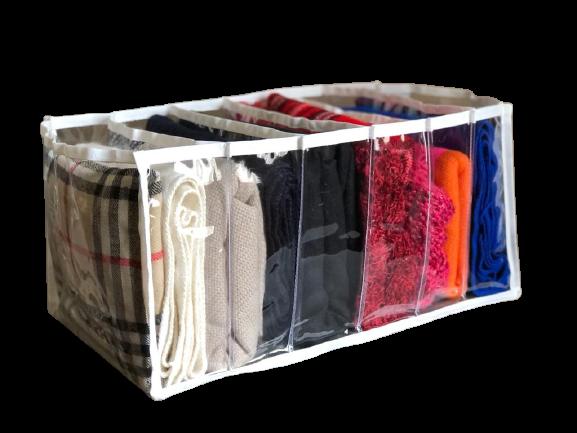 Colmeia organizadora para calças jeans shorts e blusa de lã  6 divisórias