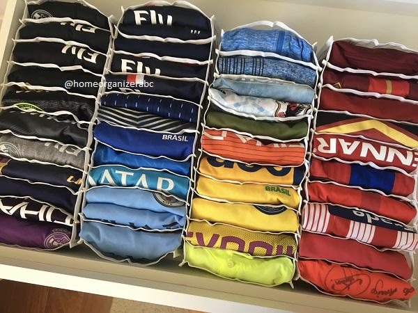 Colmeia organizadora para camiseta e roupa de ginástica 22 cm