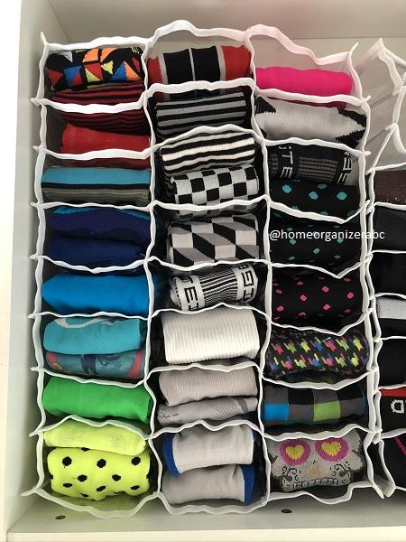 Colmeia organizadora tripla para meias e calcinhas 24 divisões