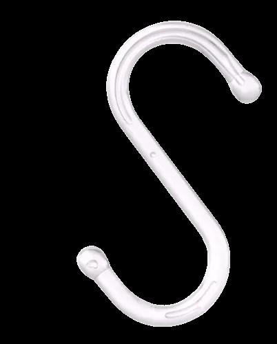 Gancho em S transparente