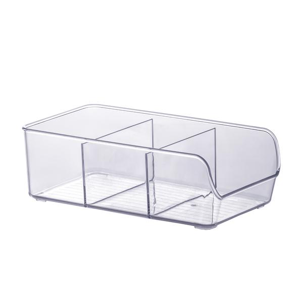Organizador com 3 divisórias - Transparente