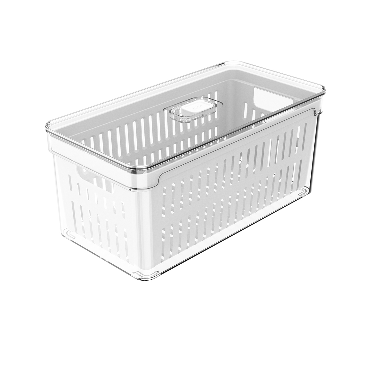 Organizador com cesto para geladeira grande