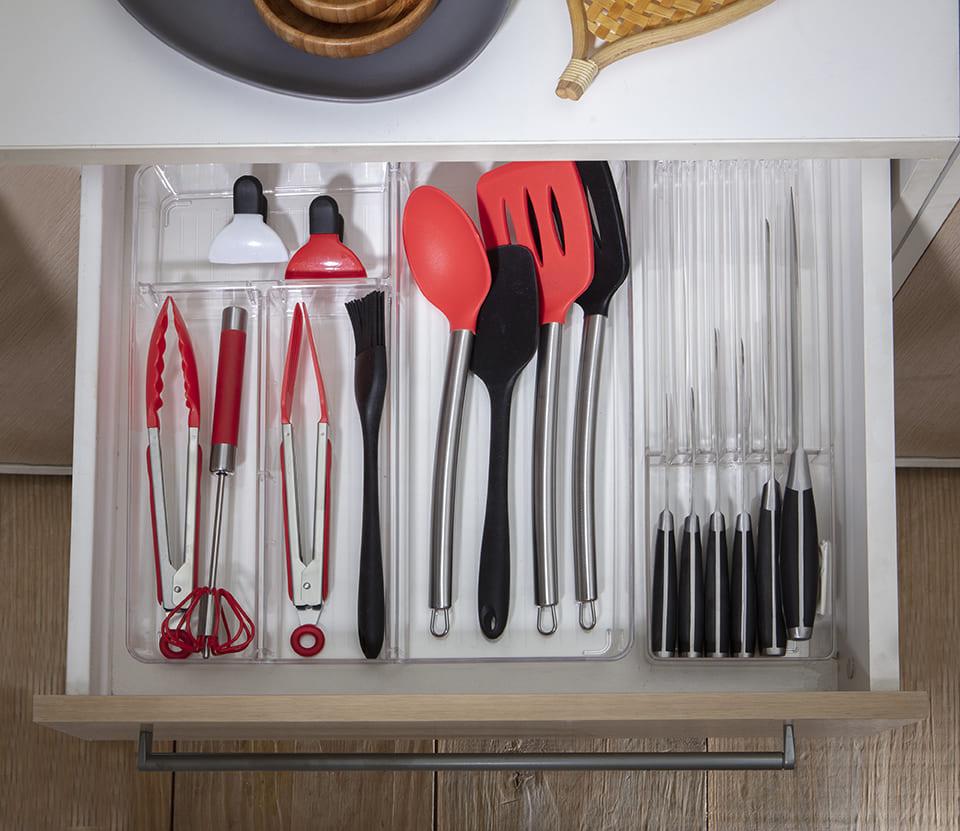 Organizador de facas transparente