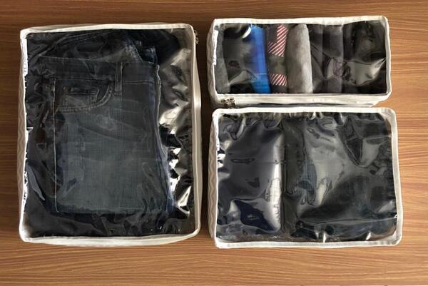 Organizador para malas com 3 tamanhos