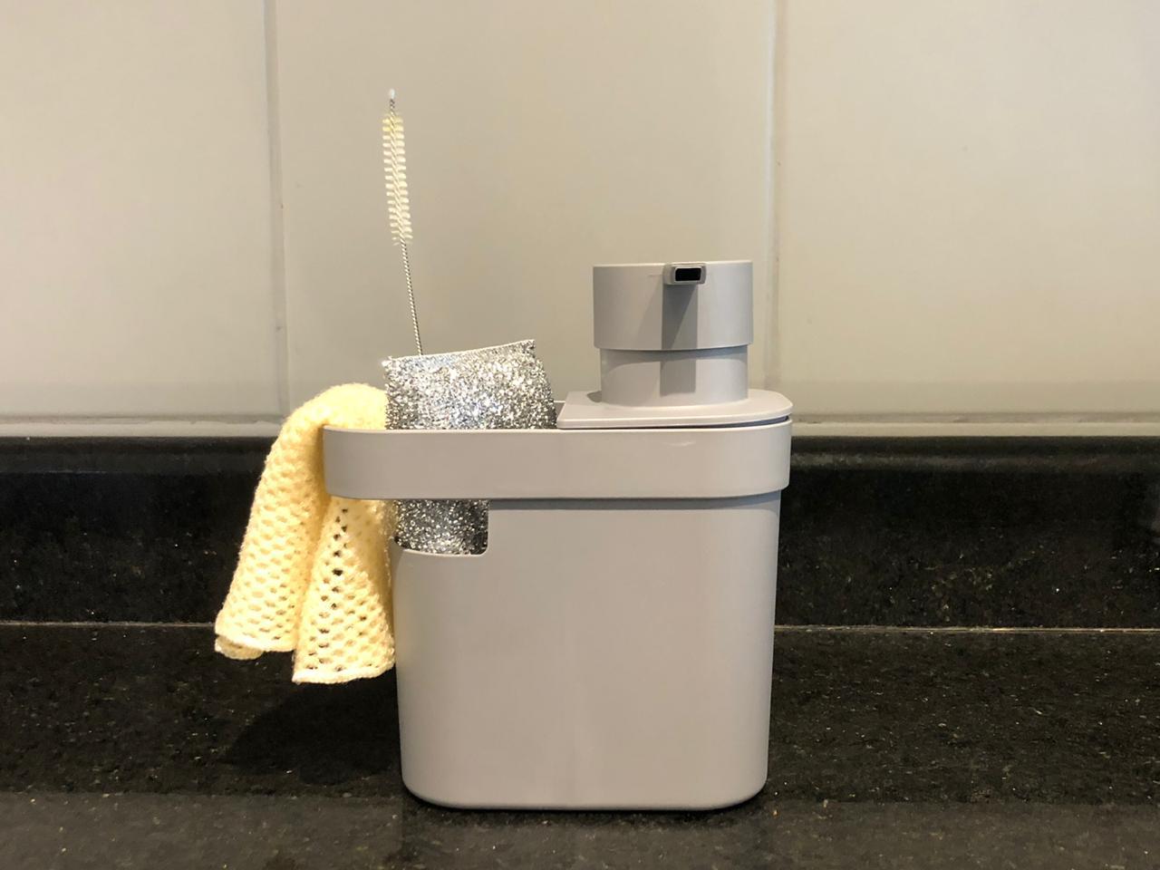 Porta detergente e esponja para pia de cozinha