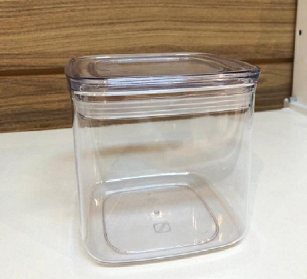 Pote hermético com tampa transparente 1,1l P