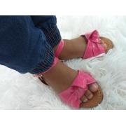 Sandália infantil rosa Verniz