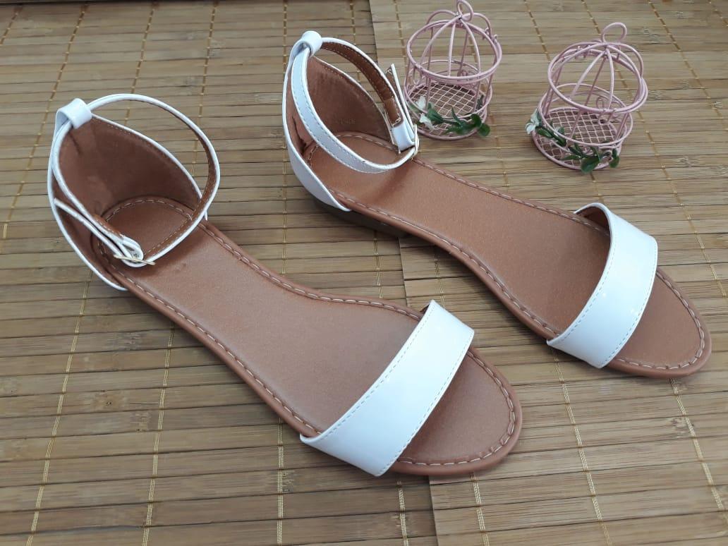 Sandália Branca Fosca