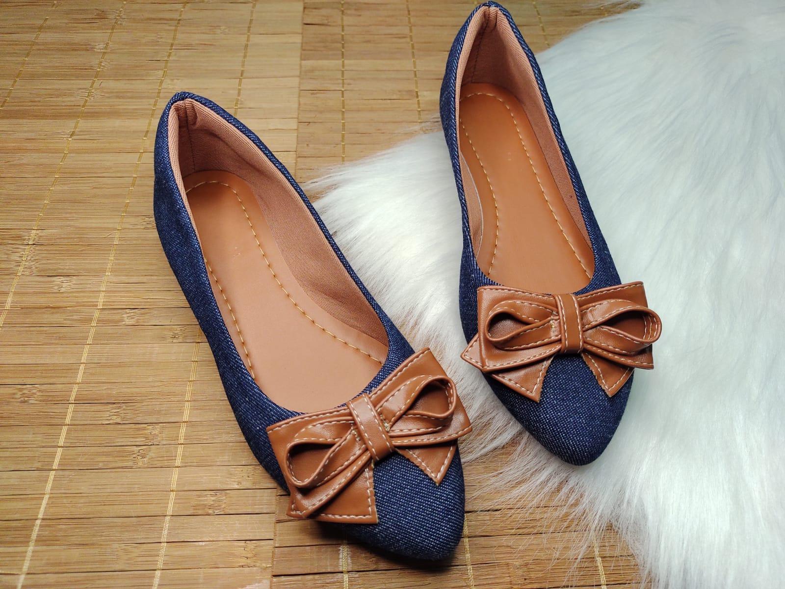 Sapatilha Jeans - Laço Marrom