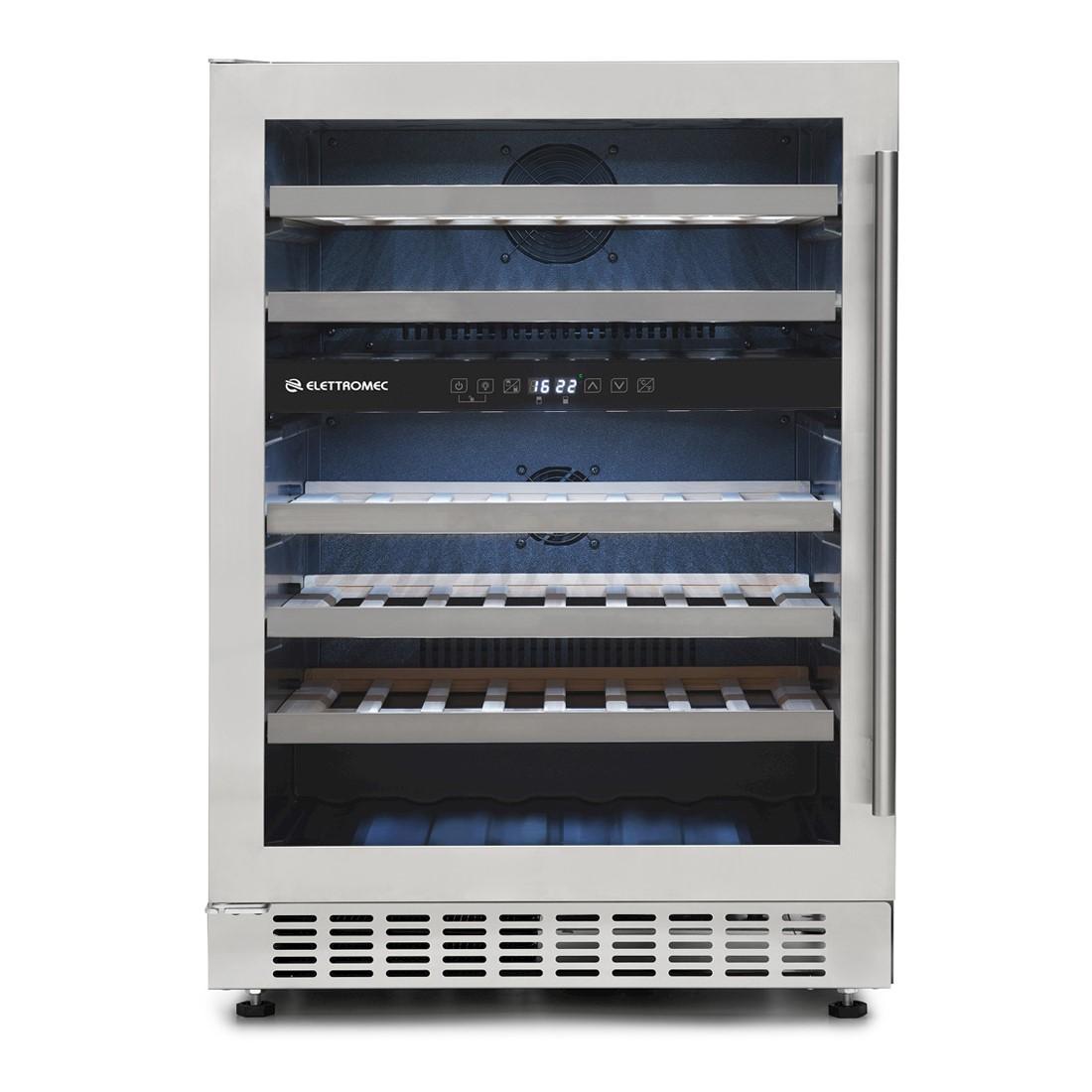 Adega de Vinhos Elettromec 45 Garrafas Compressor Dual Zone de Embutir 220V