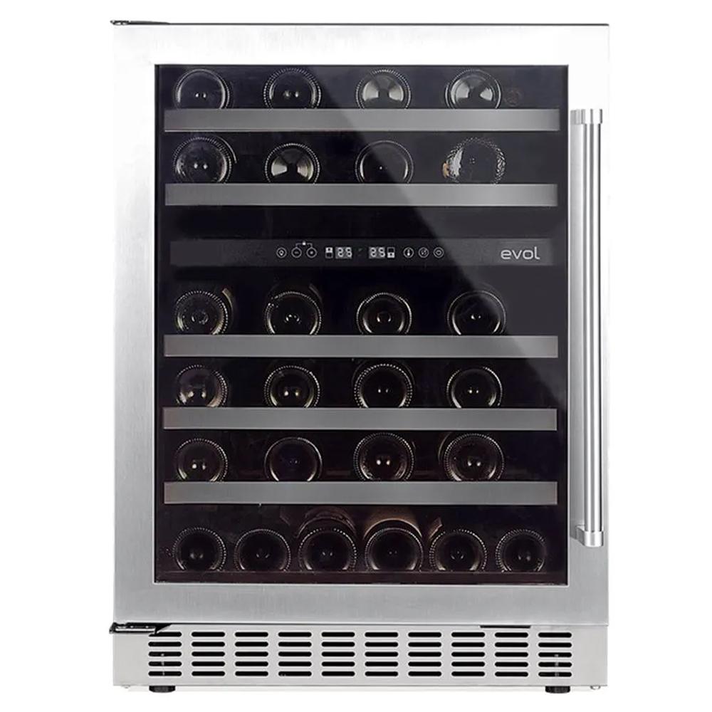 Adega de Vinhos Evol 46 Garrafas Dual Zone de Embutir 220V Abertura para Esquerda - JC-145B