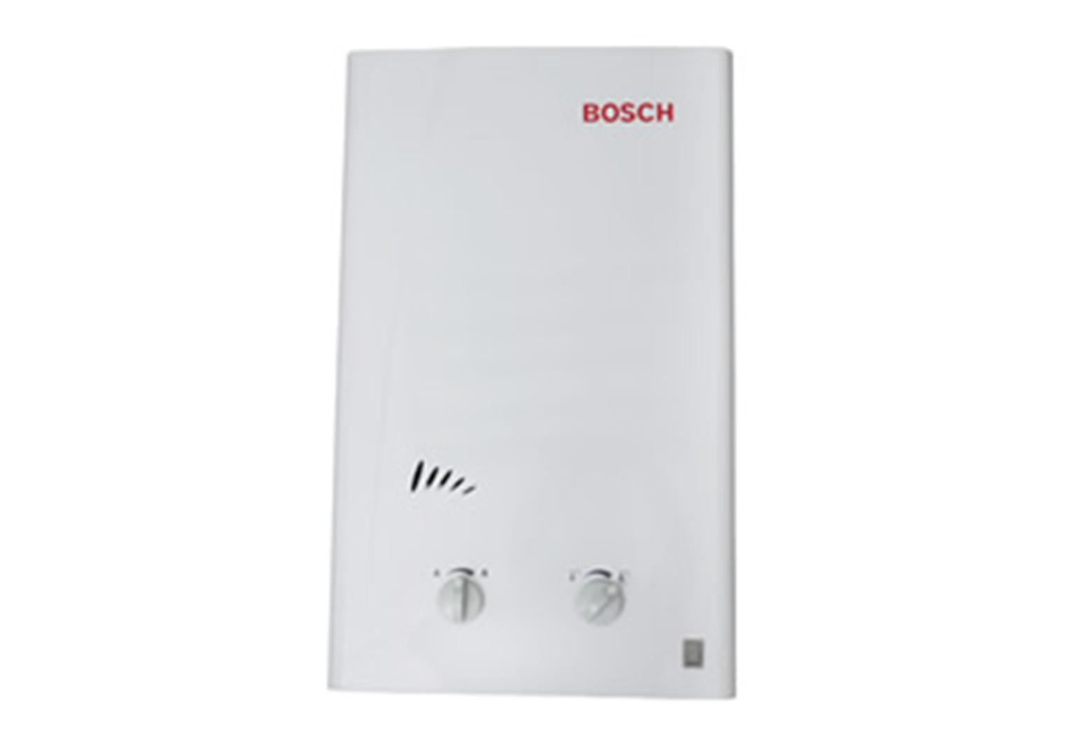 Aquecedor de passagem de vazão 13,0 alimentação pilhas 1 Ducha + 1 Pia gás natural Bosch