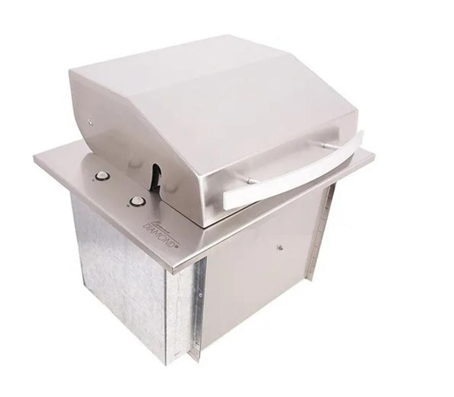 Assador Grill multiuso elétrico com acendedor automático inox 304 127V - M. Gerais