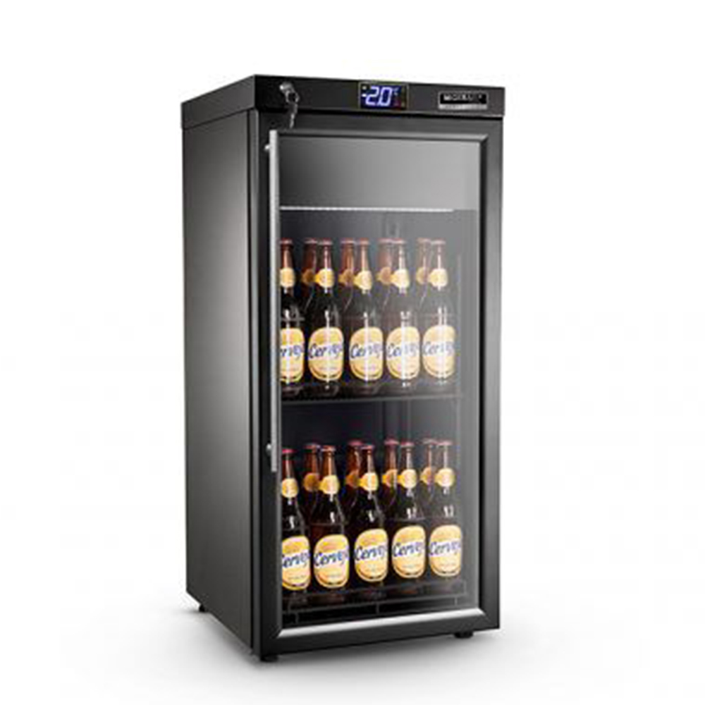 Cervejeira M Gerais preta com resistência na porta abert. para Direita 130L 110V