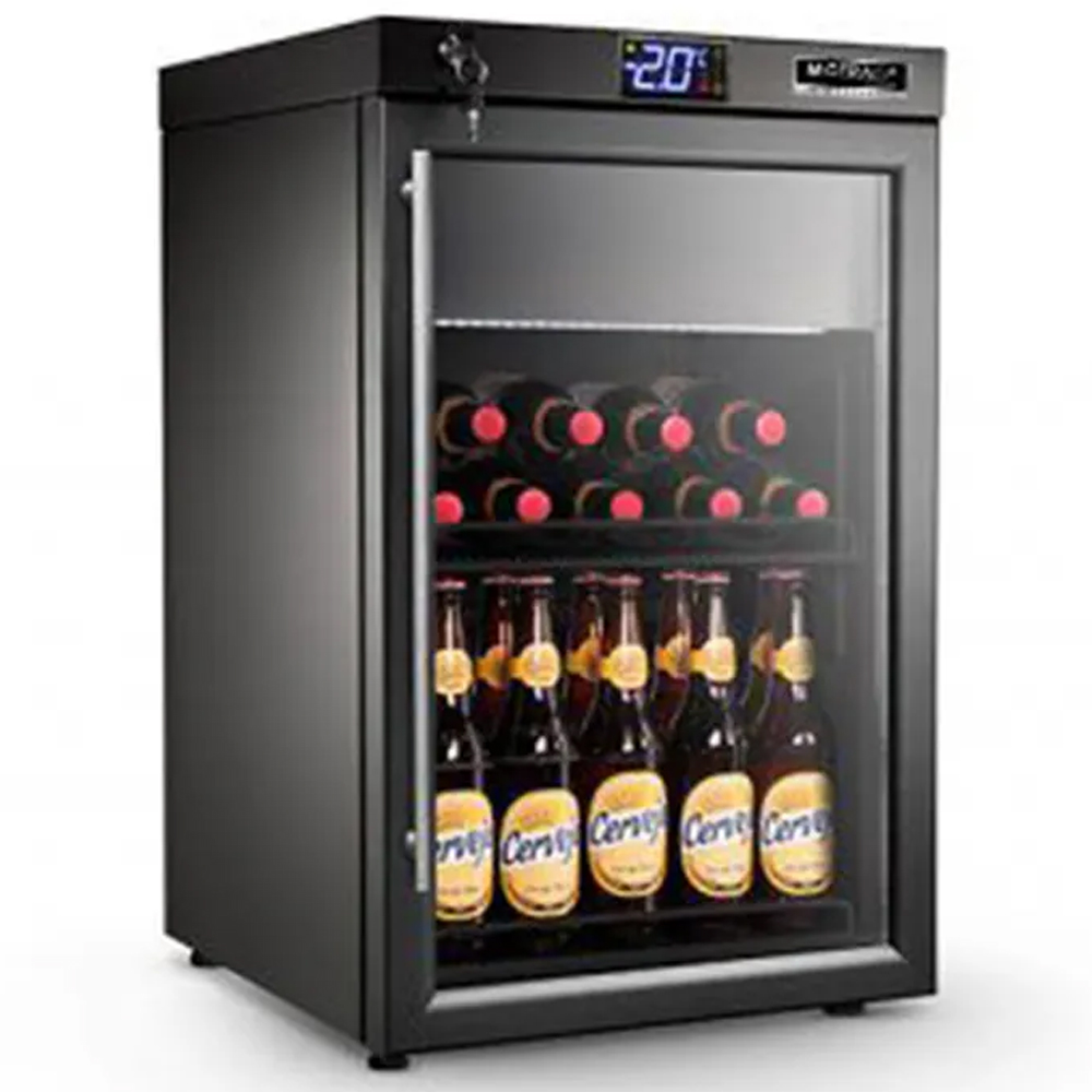 Cervejeira M Gerais preta com resistência na porta abert. para Direita 86L 220V