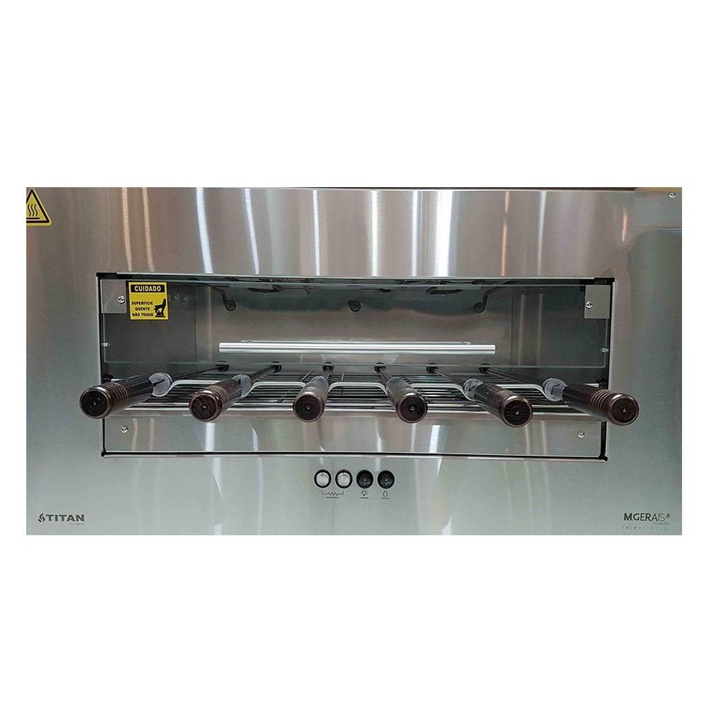 Churrasqueira M Gerais elétrica com 6 espetos inox 304 127V