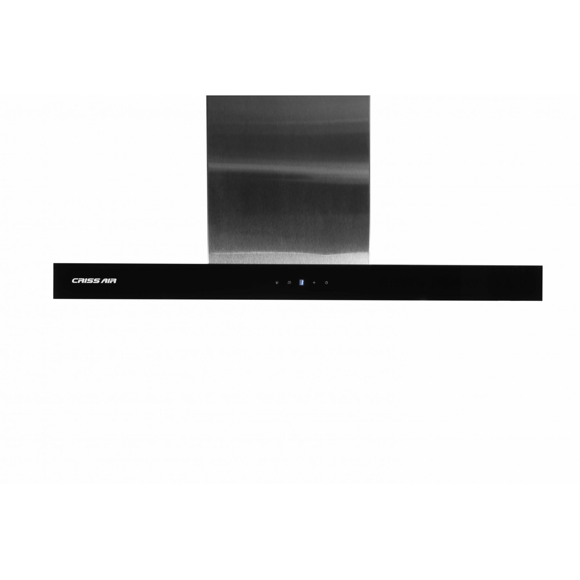 Coifa Crissair CRR 07.8 Parede Inox com Cristal Preto 80cm 220V
