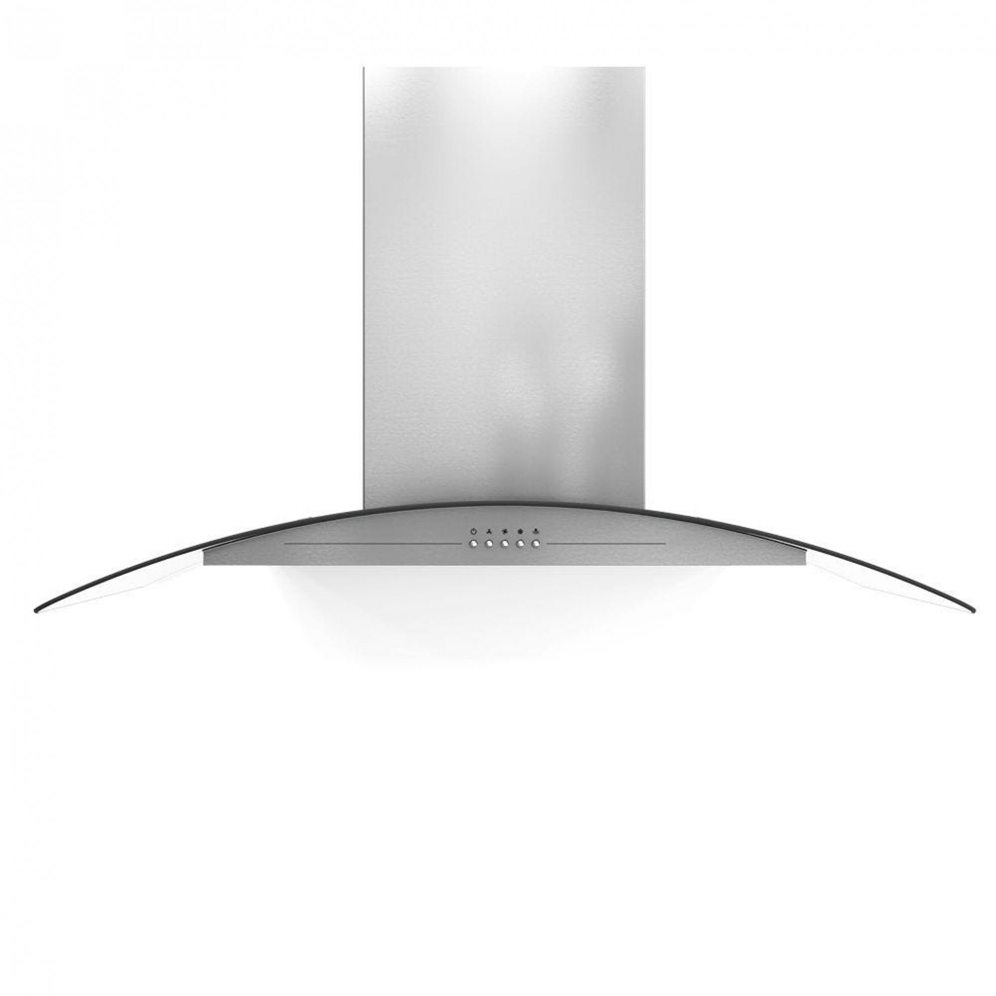Coifa de parede M Eletros inox com vidro curvo 90cm 220V