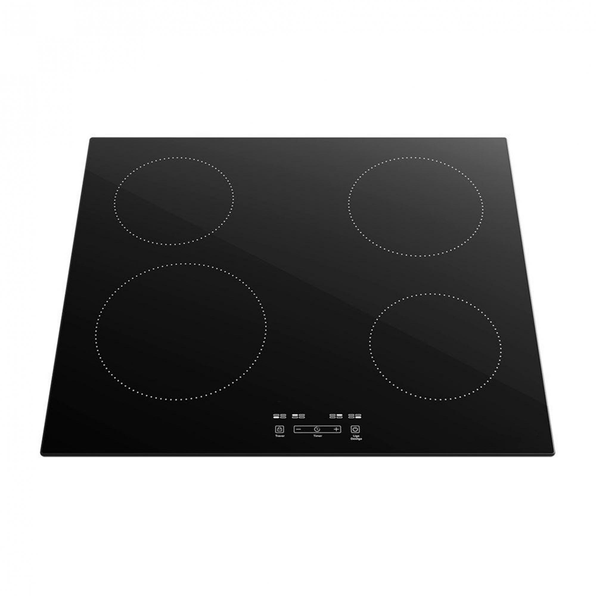 Cooktop de indução M. Eletros preto 4 zonas 60cm vitrocerâmico 220V